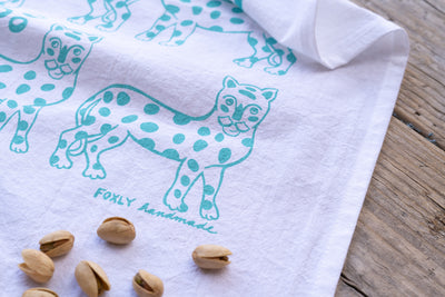 Leopards Tea Towel
