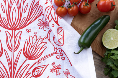 Heirloom Floral Tea Towel
