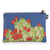 Hedgehog Cactus Dark Blue Zipper Pouch