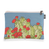 Hedgehog Cactus Blue Zipper Pouch