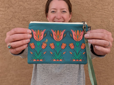 Heirloom Floral Zipper Pouch