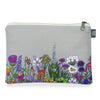 Wildflower Gray Zipper Pouch