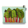 Rainbow Chard Blue Zipper Pouch