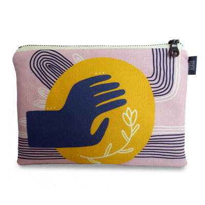 Gesture of Openness Zipper Pouch