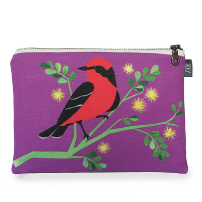 Vermillion Flycatcher Zipper Pouch