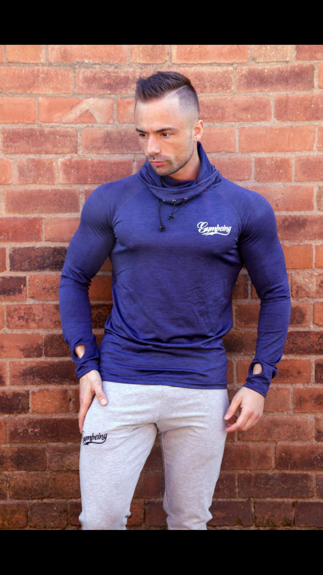 Men's aesthetic fit sports hoodie