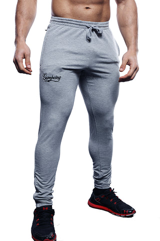 Aesthetic Grey Gym Jogging Bottoms