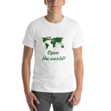 Load image into Gallery viewer, Short-Sleeve T-Shirt Open the World
