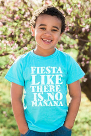 Fiesta Like There's No Mañana Turquoise Crew Neck Tee