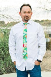 Aloha Floral Standard Necktie (Adult and Youth)