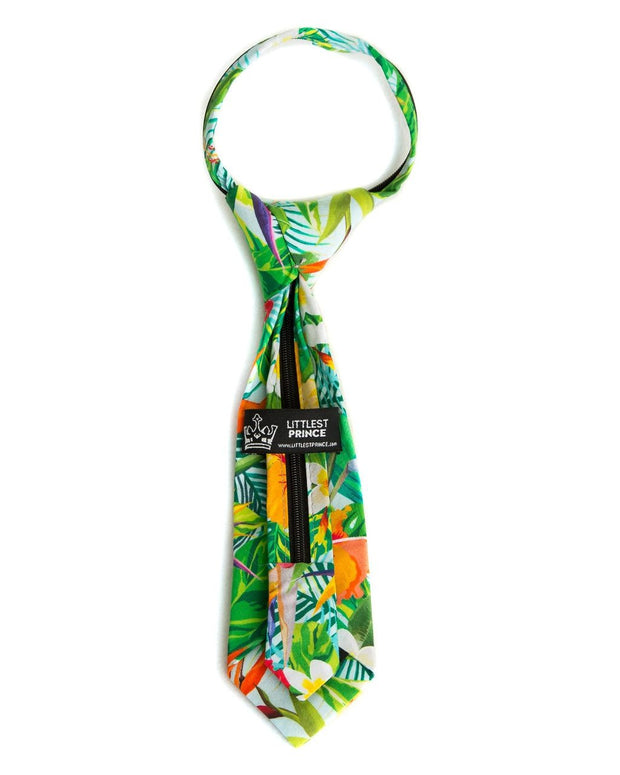 Aloha Floral Zipper Tie (Boys and Men)