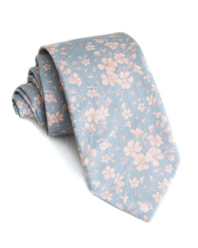 Dusk & Linen Floral Standard Necktie (Adult and Youth)