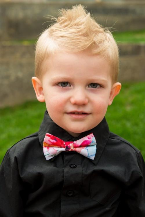 Fuchsia & Fire Floral Bow Tie (Boys and Men)