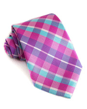Orchid & Sky Check Standard Necktie (Adult and Youth)
