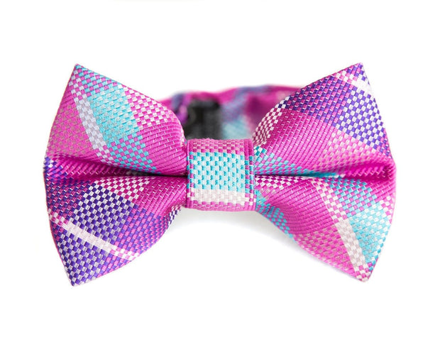 Orchid & Sky Check Bow Tie (Boys and Men)