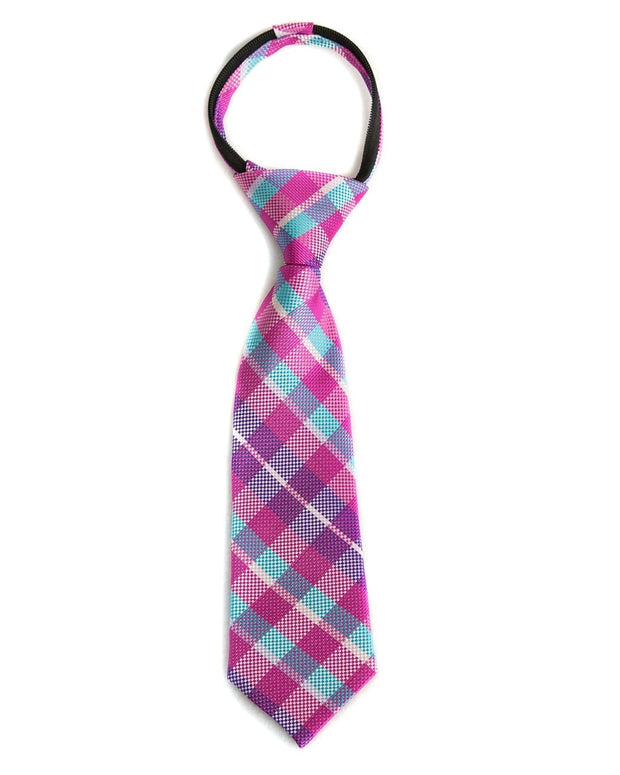 Orchid & Sky Check Zipper Tie (Boys and Men)