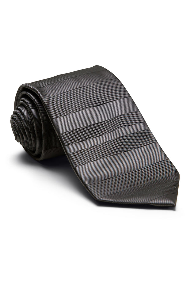 Jet Black Horizontal Stripe
