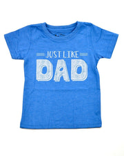 Just Like Dad Royal Blue Crew Neck Tee