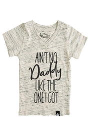 Ain't No Daddy Oatmeal V-Neck Tee