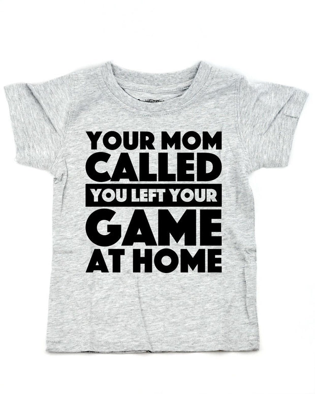 Your Mom Called Gray Crew Neck Tee