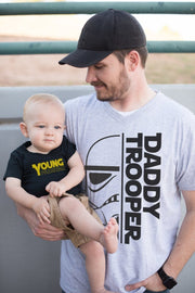 Daddy Trooper Gray V-Neck Dad Tee