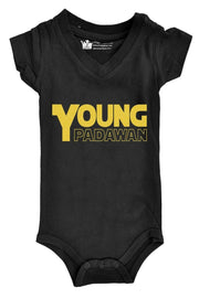 Padawan Black V-Neck Bodysuit
