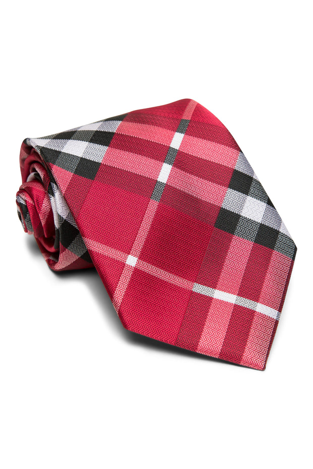 Crimson Plaid Tie