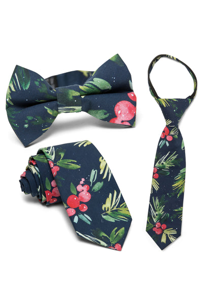 Indigo & Holly Floral Tie