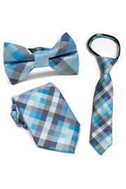 Lake & Lapis Plaid Tie