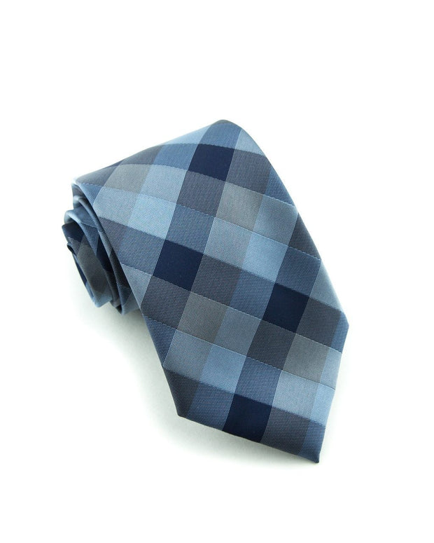 Indigo Check Standard Necktie (Adult and Youth)