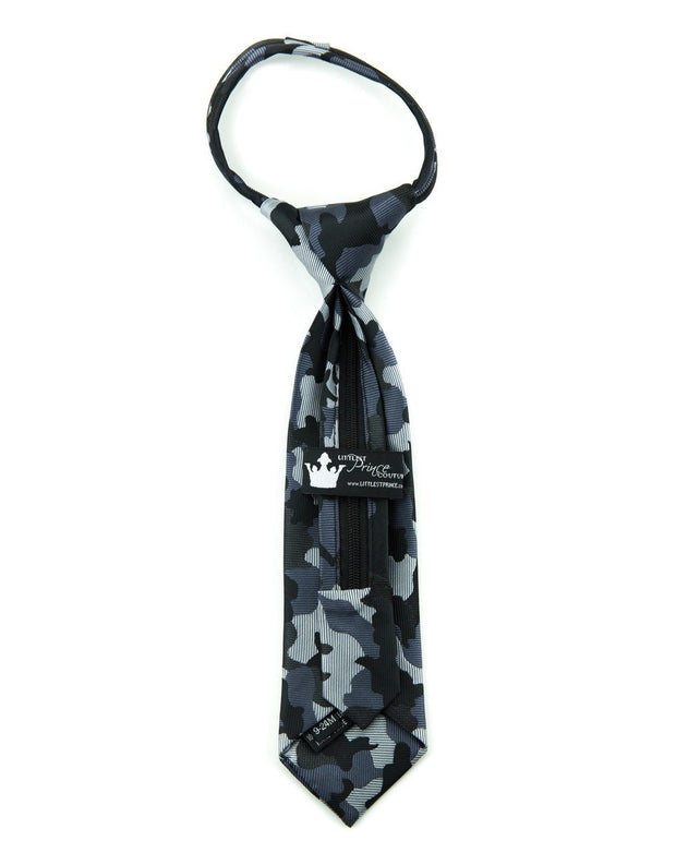 Midnight Camo Zipper Tie (Boys and Men)