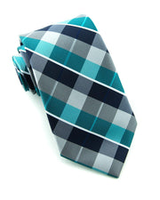 Ocean Mist Check Standard Necktie (Adult and Youth)