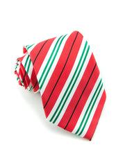 Ruby and Peppermint Stripe Standard Necktie (Adult and Youth)