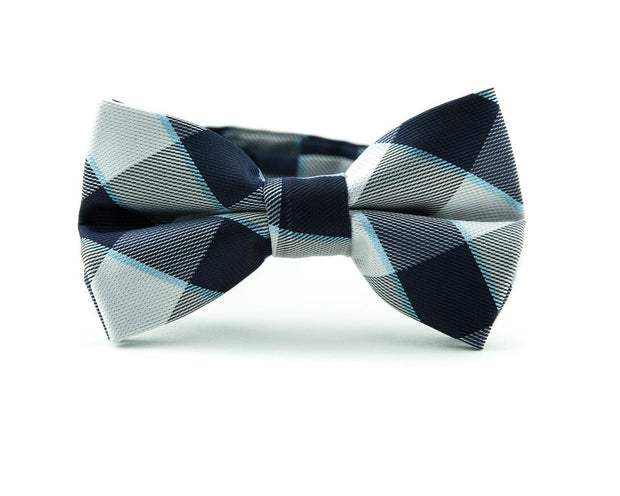 Slate and Navy Check Tie
