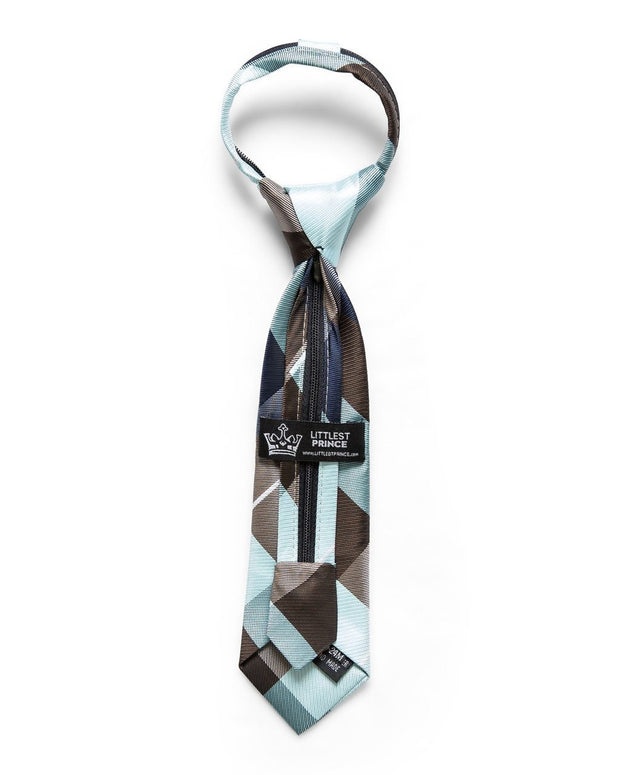 Arctic & Gray Check Zipper Tie (Boys and Men)