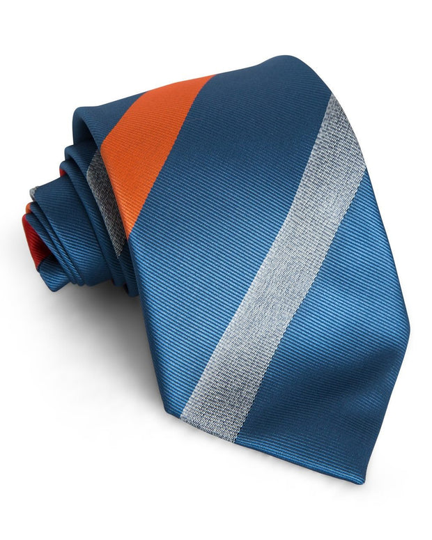 Blaze & Denim Stripe Standard Necktie (Adult and Youth)