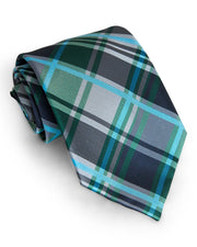 Forest & Navy Plaid Standard Necktie (Adult and Youth)