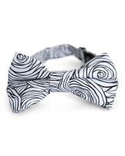 Monochrome Rose Floral Bow Tie (Boys and Men)