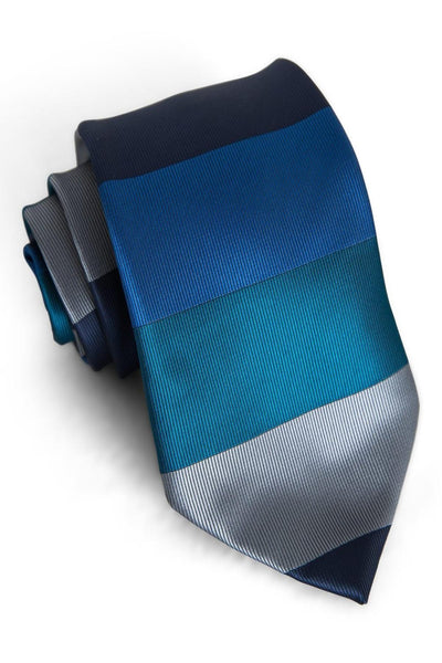 Oxford & Ocean Horizontal Stripe Standard Necktie (Adult and Youth)