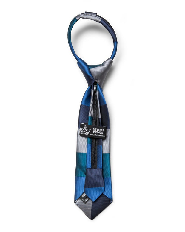 Oxford & Ocean Horizontal Stripe Zipper Tie (Boys and Men)