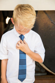 Silver Lake & Black Stripe Tie