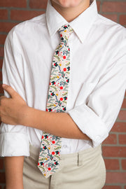 Winter Berry Floral Tie