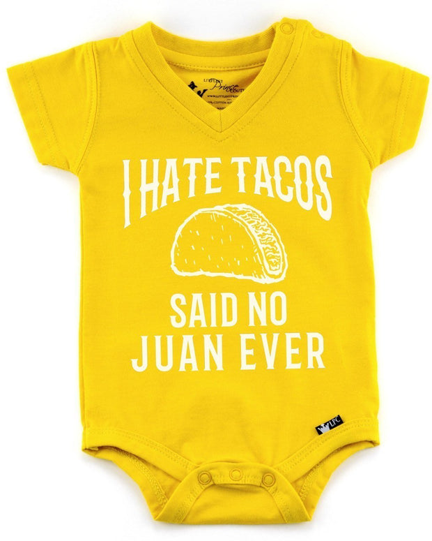I Hate Tacos Mustard V-Neck Bodysuit