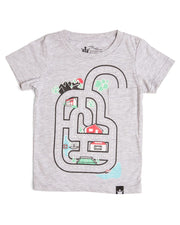 Kid's Play Mat Shirt - Around Town - Gray Crew