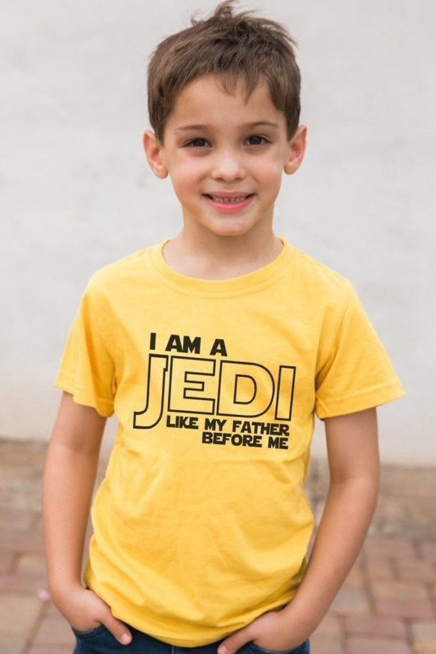 Jedi Like My Father Mustard Crew Neck Tee