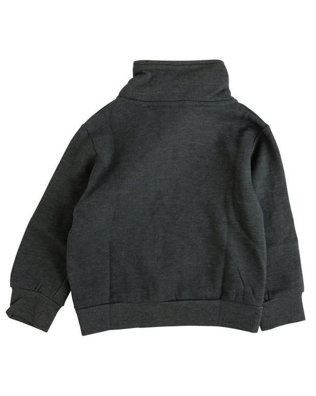 Charcoal Asymmetrical Zip Sweatshirt