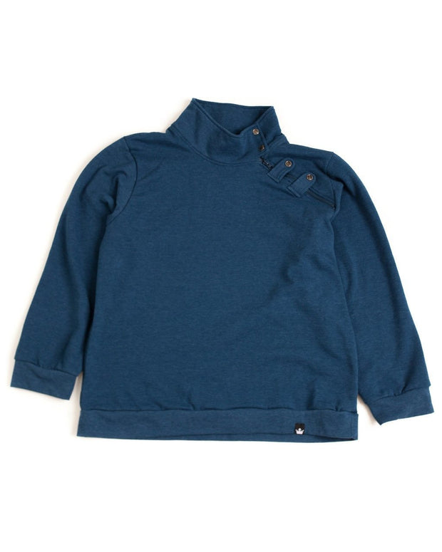 Navy Men's Asymmetrical Zip Sweatshirt