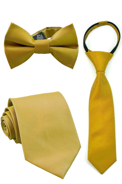 Antique Gold Solid Tie