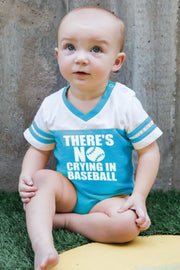 No Crying In Baseball Peacock Jersey Bodysuit