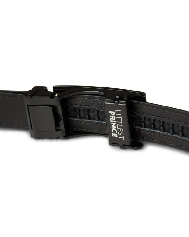 Black Zipper Belt with Matte Black Buckle